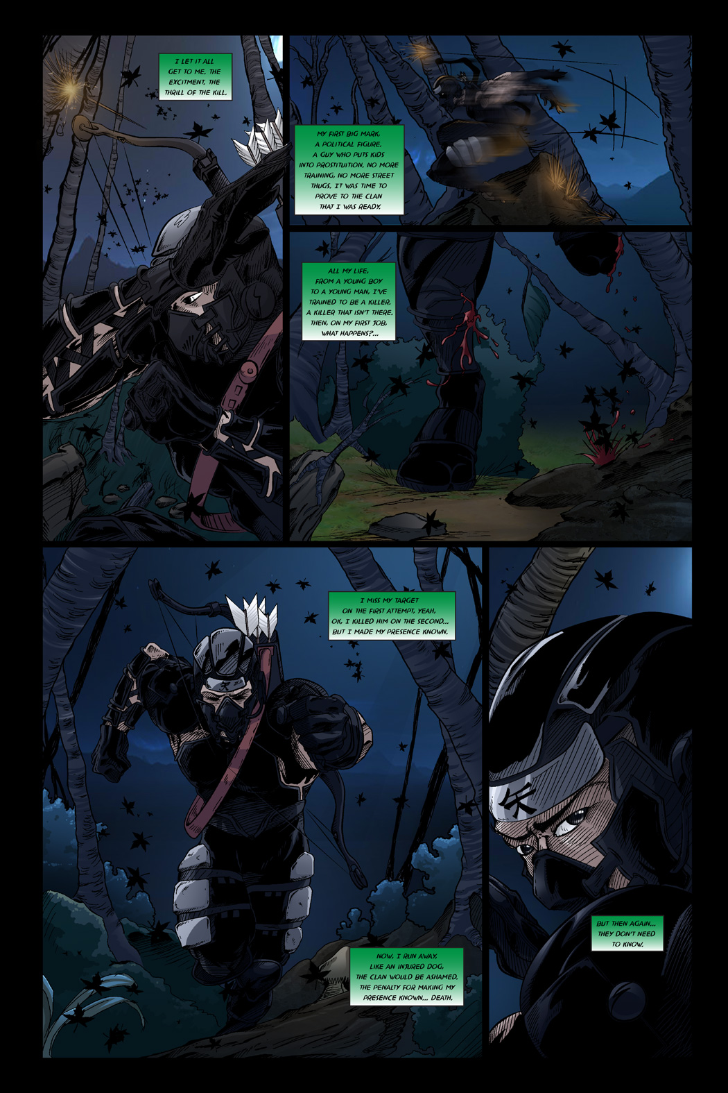 THREE ARROWS, FOUR TARGETS (Page 1)