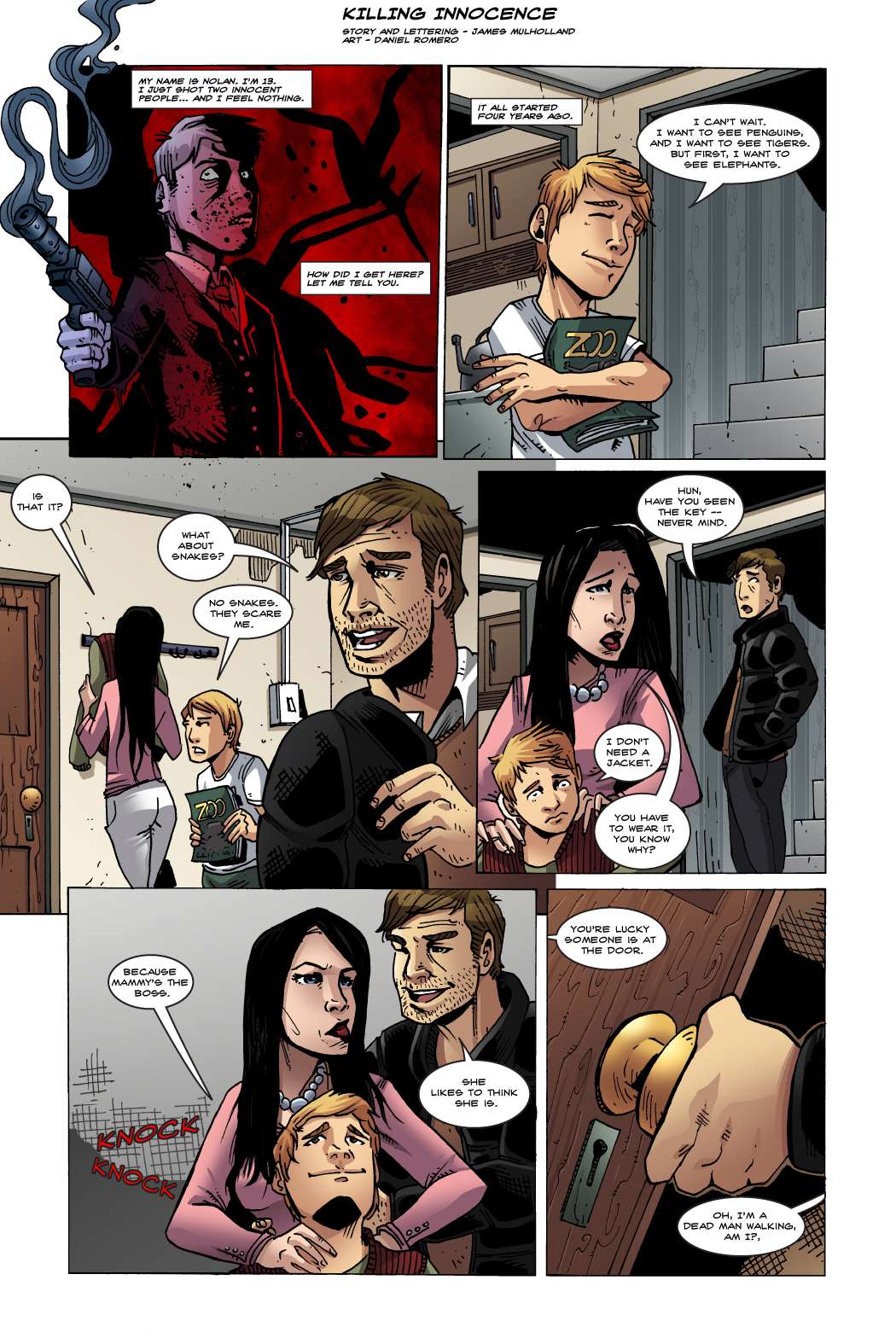 GONE IS INNOCENCE (Page 1)